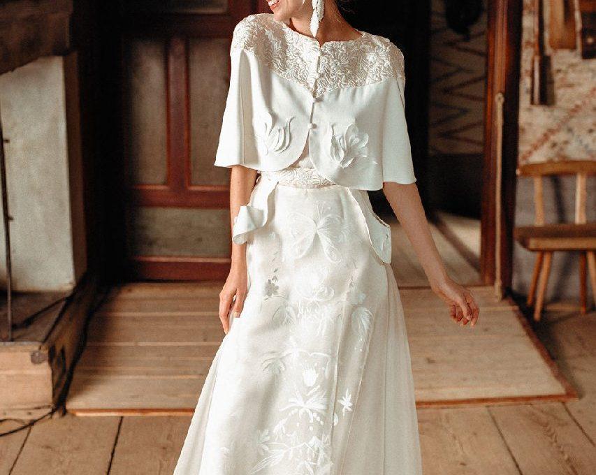 Création d'une robe de mariage sur mesure (2019-noora-1)