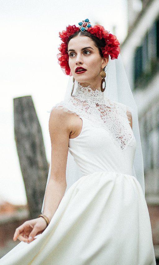 Création d'une robe de mariage sur mesure (2017-mona-1)