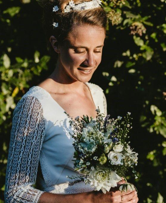 Création d'une robe de mariage sur mesure (2016-pauline)
