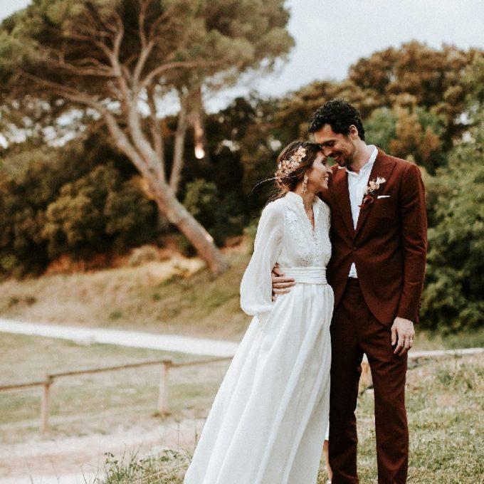 Création d'une robe de mariage sur mesure 2019