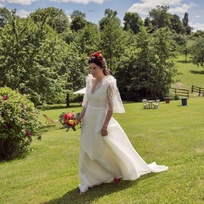 Création d'une robe de mariage sur mesure (2019-clemence)