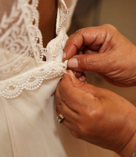 Robe de mariée, couture par Constance Fournier