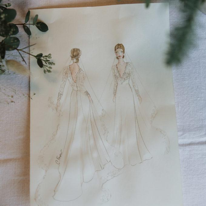le dessinde la robe de Marie