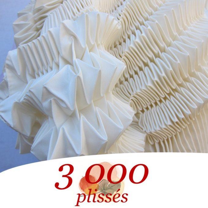 3000 plissés