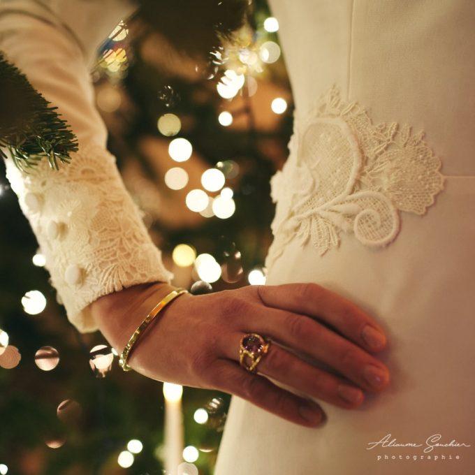 Élégante robe d'hiver Constance Fournier