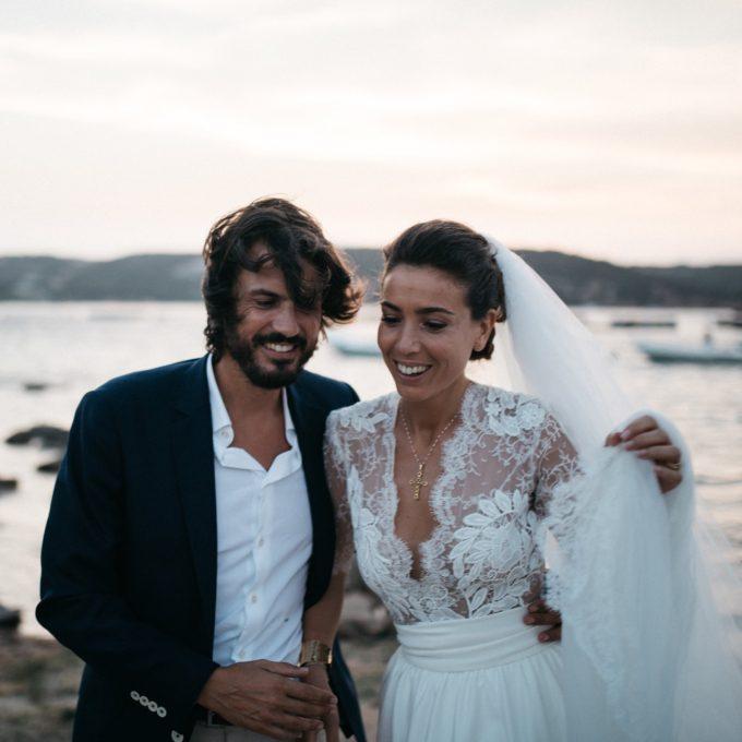 Robe en néoprène et dentelle de Calais rebrodée I Création unique sur-mesure Constance Fournier I Aliénor, mariée 2017