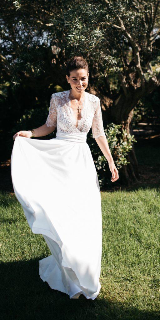 Création unique sur-mesure Constance Fournier I Aliénor, mariée 2017